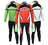Ternos ( Vermelho/Branco/Verde ) - de Ciclismo/Trilha - Unissexo - Respirável/Secagem Rápida/Design Anatômico/wicking/Bolso Traseiro - com