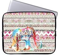 """elonbo schönen Streifen und Schloss Elefanten 15 """"Laptop wasserdicht Hülle für MacBook Pro Retina dell hp acer"""