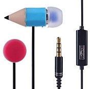 MP3 3.5mm Pencil with Wheat-ear Headphones / MP4 / PC Headset(Assorted Colors)