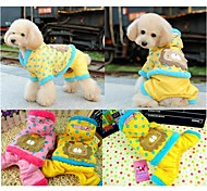 Winter Cotton Coats / Pants / Hoodies for Dogs Pink / Yellow XS / S / M / L