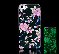 Flowers Pattern Glow in the Dark Hard Case for iPhone 4/4S