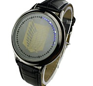 Heren Dress horloge Digitaal LED PU Band Zwart / Bruin
