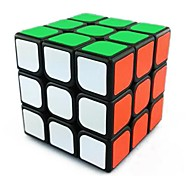 Magic Cube IQ Cube Three-layer Speed Smooth Speed Cube Magic Cube puzzle Black ABS
