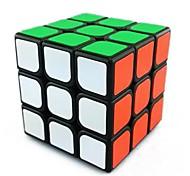 Cubos Mágicos 3*3*3 Velocidad Cubo velocidad suave Negro ABS Juguetes