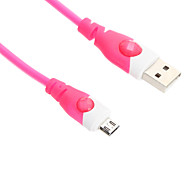 100CM Micro USB  Cable for HTC/Xiaomi/Huawei(Green,Blue,Rose)