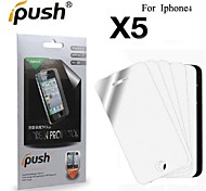 High Transparency Mirror LCD Screen Protector for iPhone 4/4S (5 Pieces)