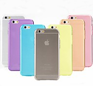 TPU Ultra-Thin Transparent Mobile Phone Protection Shell for iPhone 6/6S (Assorted color)