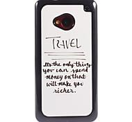 Unique Design To Travel Pattern Aluminium Hard Case for HTC M7