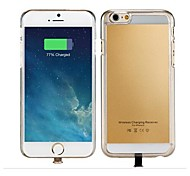 Qi Standard Wireless Charger Receiver Back Cover for iPhone 6 (Assorted Colors)