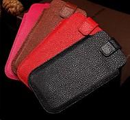 véritable cuir flip étui portefeuille pour iPhone 6 (couleurs assorties)