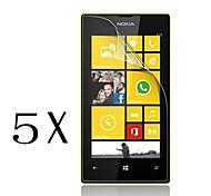 [5-pack] alta transparencia de cristal LCD protector de pantalla transparente profesional con paño de limpieza para Nokia Lumia 520