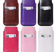 Crazy Horse Texture  PU Leather Pouches with Card Slot for Samsung S4 I9500 S3 I9300(Assorted Colors)
