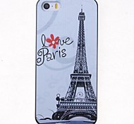 Cartoon Eiffel Tower Pattern Back Case for iPhone 5/5S