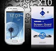 Protector de pantalla de alta definición con polvo absorbente para el mini i9190 Samsung Galaxy S4 (10 piezas)