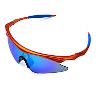 Sunglasses Men / Women / Unisex's Classic / Sports / Fashion / Sunglass Style Wrap Orange Cycling Half-Rim