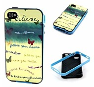 Believe Pattern Back Case Cover for  iPhone4/4S