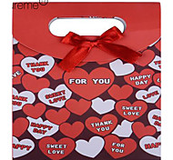 Lureme®Paper Made Heart Pattern Pink Gift Box