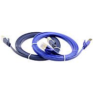 5m 16,4 pés cabo de rede de alta velocidade cat7 dupla blindagem de cobre puro cabo de rede router computador plana