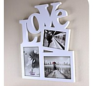 Personalized Framed Photo 6 And 2x7 Inches In One Love Design White Wooden Frame 3 Photos