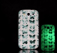 Butterfly Pattern Glow in the Dark Hard Case for Samsung Galaxy S3 I9300