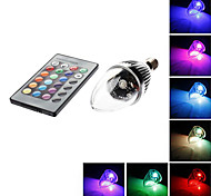 5 pcs E14 3 W 1 180 LM RGB/Color-Changing C Remote-Controlled LED Filament Lamps AC 85-265 V