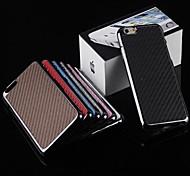 toophone® Joyland electroplate fibra de carbono retraso caso de la contraportada para el iphone 6 (color clasificado)