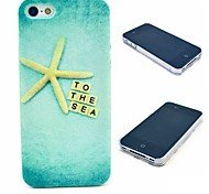 Gold Star Sea Pattern Hard Case for  iPhone 4/4S