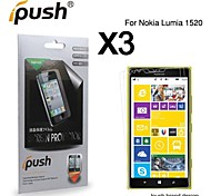 High Transparency HD LCD Screen Protector for Nokia Lumia1520 (3 Pieces)