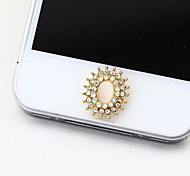 Rhinestone Flower  Home Button Sticker for iphone4s/5