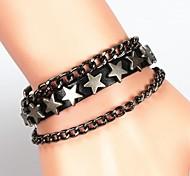 Men's Fashion Pentagram Rivet Bracelet