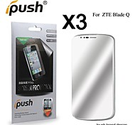 High Transparency Mirror LCD Screen Protector for ZTE Blade Q (3 Pieces)