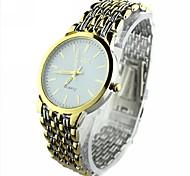 Masculino Relógio Elegante Quartzo Lega Banda Dourada