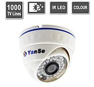 YanSe® Color CCTV IR Dome Camera Vision Security Indoor Surveillance Cameras -1000TV Lines 808CFW