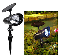 2 LED Solar Power Outdoor Garden Landscape Stake Flood Spotlight