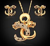 plateado u7® vendimia oro cabeza de león colgante 18k austríaco de la joyería de cristal
