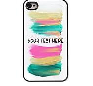 personalizzato phone caso - caso di disegno della banda del metallo colorato per iPhone 4 / 4S