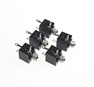 3.5-channel toma jack de audio estéreo (5pcs)