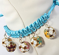 Handmade Pendant Collars With Bells for Pet Dogs and Cats
