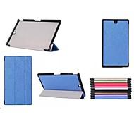 Patrón triple desplegable caso de alta calidad de cuero de la PU de 8 pulgadas para Sony Tablet z3 xperia compactos (colores surtidos)