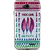 Feather legend Pattern TPU Soft Back Cover for LG L70