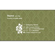 Personalized Business Cards 200 PCS Classic Green Pattern 2 Sided Printing of Fine Art Filmed Paper