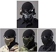 meia máscara facial de aço greve equipamento tático para paintball airsoft (dois versão cinto)