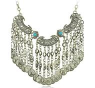 declaração cigana colar vintage jóias étnicas moeda boho colar