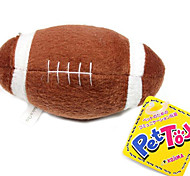 Kojima Pet Plush Toys Sound Brown Football Toys for Dogs