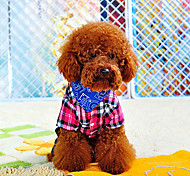 Print Pattern Triangle Scarf Collar for Pets Dogs