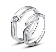 regalo personalizzato semplici Argento 925 coppie anelli