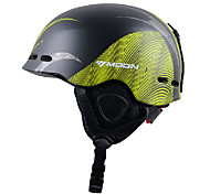 MOON Winter Autumn Unisex Lines EPS+PC Black+Green Super Light Ski Helmet