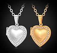 Women's Choker Necklaces Pendant Necklaces Lockets Necklaces Imitation Diamond Rhinestone Platinum Plated Gold Plated Simulated Diamond