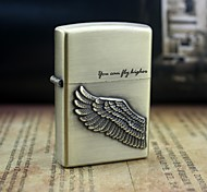 Earth Gold YOU CAN FLY Pattern Metal Relief Oil Lighter