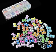 36PCS Manicure resin double bow new Manicure jewelry  Nail Art Decoration